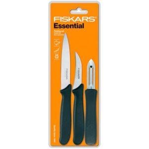 Набор ножей для чистки продуктов Fiskars Essential Peeling Knife Set (1024162)