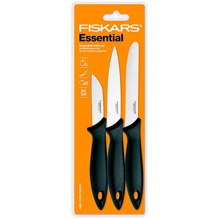 Fiskars Essential Vegetable Knife Set (1023785)