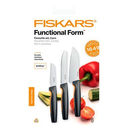 Набор кухонных ножей Fiskars Functional Form Favourite Knife Set (1057556)