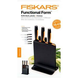 Набор кухонных ножей в пластиковом блоке 5 шт. Fiskars Functional Form (1057554)